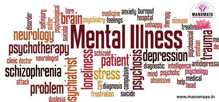 Types of mental illness and conditions